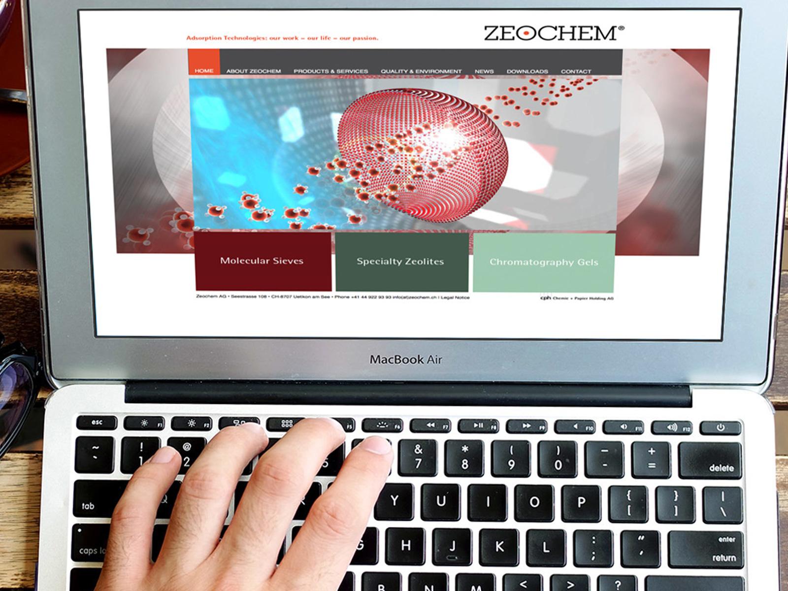 Konzeption&Entwicklung: ZEOCHEM Webseite